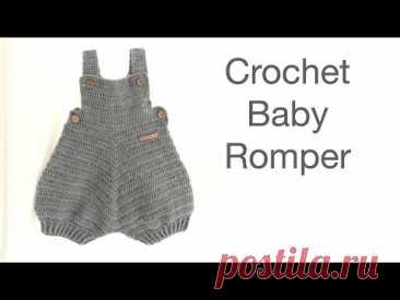 Crochet Baby Romper Bjorn - free crochet pattern