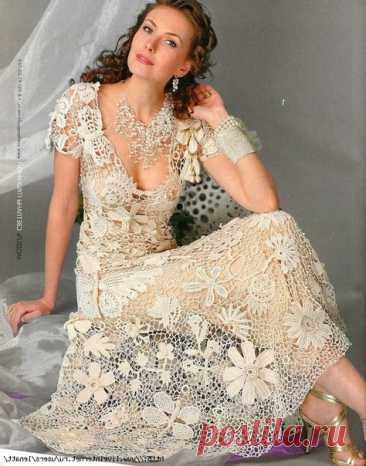 Сообщество Люблю вязание- Вдохновляем на творчество! Вяжите вместе с нами!  Какая красота!! Великолепное платье!