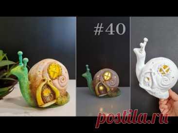 Идея сказочного домика улиток своими руками - Поделка из сухой глины - Идеи подарков