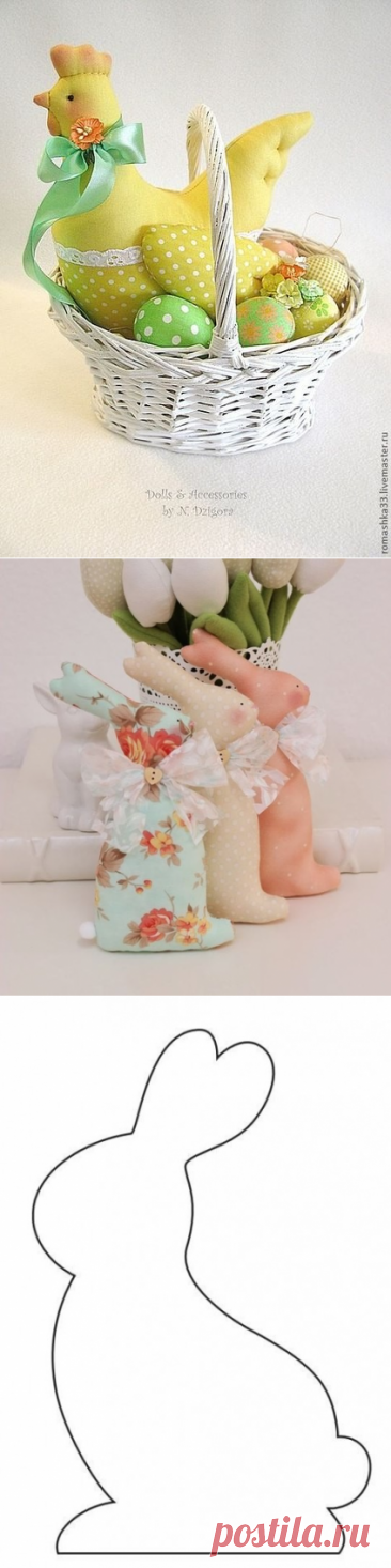 Пасхальные игрушки в стиле тильда