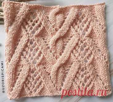 Узоры спицами #knitting #узоры_спицами #вязание_спицами