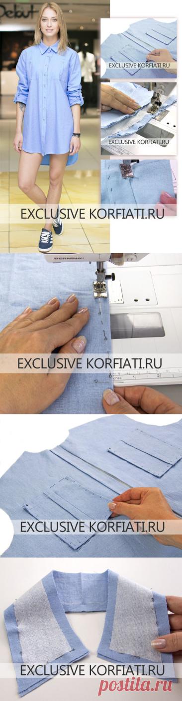 Как сшить женскую рубашку - мастер-класс от Анастасии Корфиати