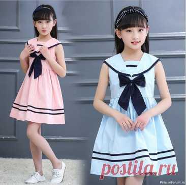 Детское платье в морском стиле. Выкройки | Швейная мастерская
