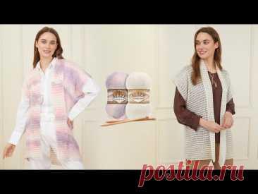 Alize Angora Gold ile Baharlık Yelek • Seasonal Vest • Весенний Жилет