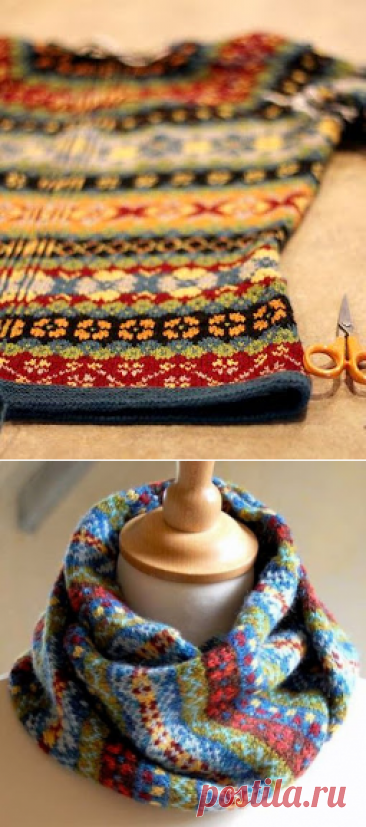 """Вязание in Fair isle style: snuda, scarfs, шапки..."" (selection + schemes)"