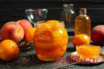 Янтарное варенье из персиков дольками. Пошаговый рецепт с фото