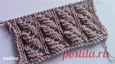 КЛАССНЫЙ УЗОР для кардигана, детских комбинезонов, пуловера, пончо../knitting pattern/#узорспицами