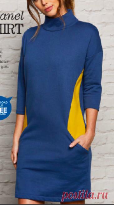 Выкройка Трикотажного платья размер 8-16 англ. Скачать выкройку бесплатно Выкройка Трикотажного платья размер 8-16 англ.