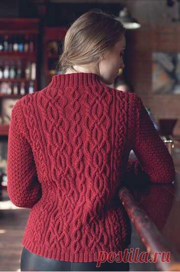 Вязаный жакет спицами описание — Красивое вязание
