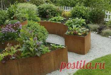 Интересные грядки в саду. Как устроить красивые грядки на даче: практические советы и дизайнерские приемы