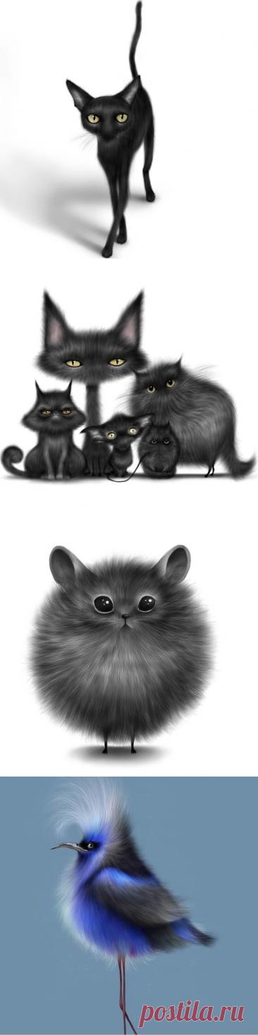 Котики, птички и другие монстрики от Peppa Potter