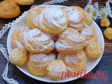 Заварные пирожные с начинкой: мы покажем как приготовить их с 1 попытки   Еда на каждый день   Яндекс Дзен