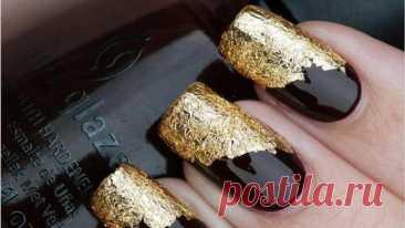 Маникюр черный с золотом: идеи дизайна ногтей | NUR.KZ