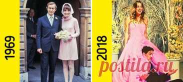 15+ звездных невест, которые наплевали на все правила и выбрали необычные свадебные платья