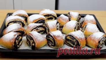 Маковые булочки: аппетитные воздушные с морем начинки