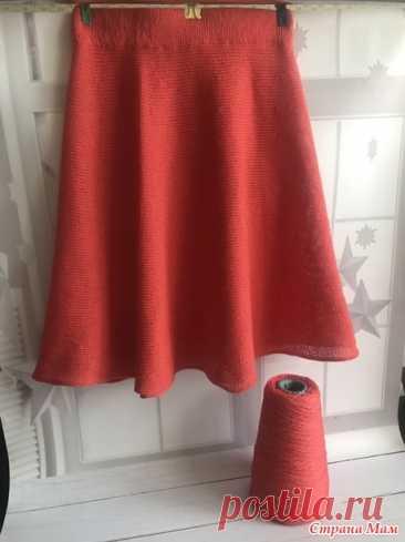 Детская юбка/поперечное вязание - Машинное вязание - Страна Мам