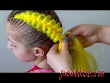 Вплетение канекалона. Простой способ. Легкие прически / two easy and simple braids