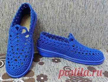 Оригинальная летняя обувь крючком. Идеи для вязания