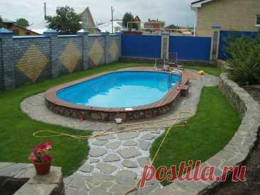 Как недорого сделать бассейн на даче своими руками: разновидности, используемые материалы, ход работ Как построить бассейн на даче своими руками. Какие разновидности конструкций бывают. Выбор места и размеров. Как сделать бассейн недорого.