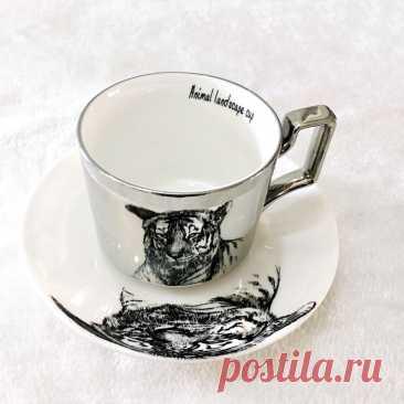 Зеркальная коллекция чашка с отражением животных леопардовая анаморфная чашка кружка с мультяшным котом тигром Роскошная китайская посуда для напитков кружка с пандой | Дом и сад | АлиЭкспресс