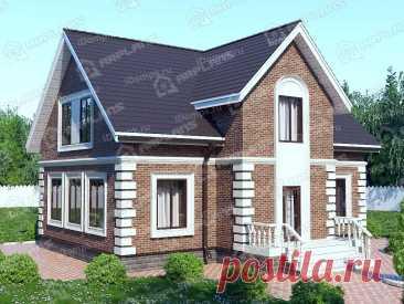 Проект дома с мансардой в английском стиле с большой гостиной p2147rb