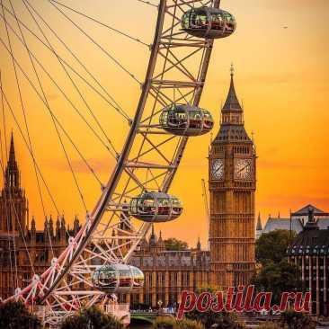 Лондонский глаз — колесо обозрения в Лондоне. Англия.