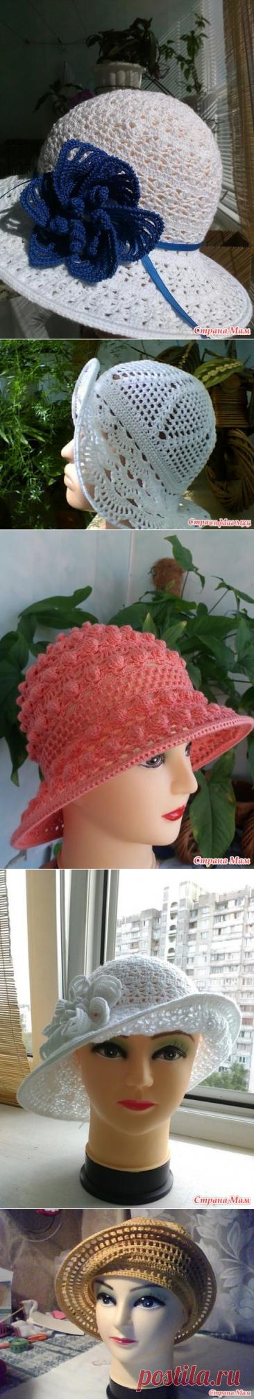 Mi colección de los sombreros de señora veraniegos - el S. U - los Sombreros Tejidos - el País de las Mamás