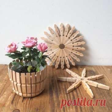 Идеи интересных поделок из деревянных прищепок Идеи интересных поделок из деревянных прищепокИдеи интересных поделок из деревянных прищепок