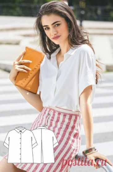 Женская блуза  Размеры выкройки: 38-46 европейские