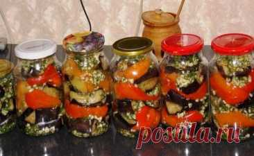 Хит сезона! Баклажаны с болгарским перцем чесноком и зеленью укропа