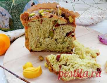 Фисташковый кулич-бриошь, пошаговый рецепт на 10720 ккал, фото, ингредиенты - Наталья Андреева
