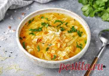Быстрый куриный суп с вермишелью