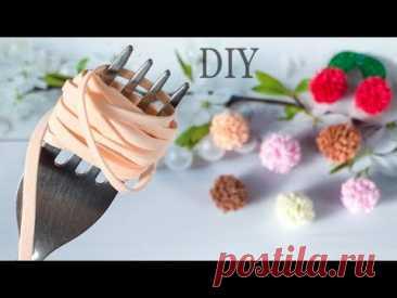 Зефирки Помпоны Из Фоамирана 😍 Повязка Мороженка🍧 Вишенки 🍒 Diy Foam Sheets Craft / Goma Eva Foam