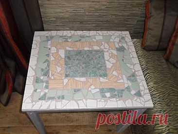 Мозаичный столик: превращение старого стола в красивый предмет интерьера