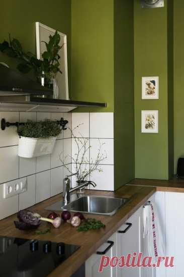 Сделать кухню изумрудного цвета? Не каждая хозяйка решиться на такую... красоту!   Дизайнер интерьера & Любитель   Яндекс Дзен