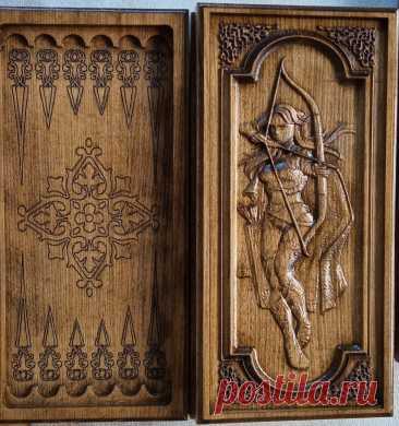 Нарди дерев'яні Амазонка лучниця - Вироби з дерева Косів на board.if.ua код оголошення 67617