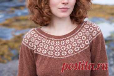 Пуловер с круглой кокеткой Always & Forever - Вяжи.ру