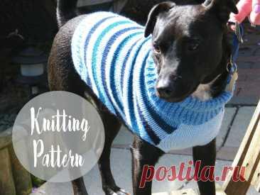Выкройка свитера с собакой | Бесплатные схемы для вязания | Handy Little Me