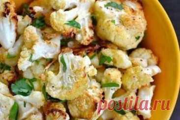 Цветная капуста с пармезаном и чесноком в духовке, рецепт с фото   Вкусные кулинарные рецепты
