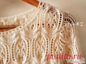 Роскошный пуловер спицами