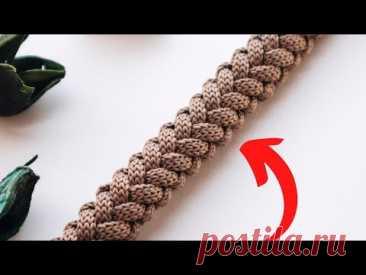 Этот шнур ищут все! КОСА С ОБЕИХ СТОРОН. Вязание крючком | Nadezhda Lab