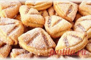 Творожное печенье гусиные лапки без яиц и разрыхлителя – рецепт с фото