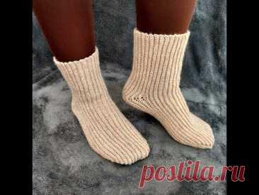 Свяжем носки крючком как спицами