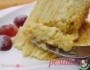 """Нежный торт """"Наполеон"""" с коржами на сметане – кулинарный рецепт"""