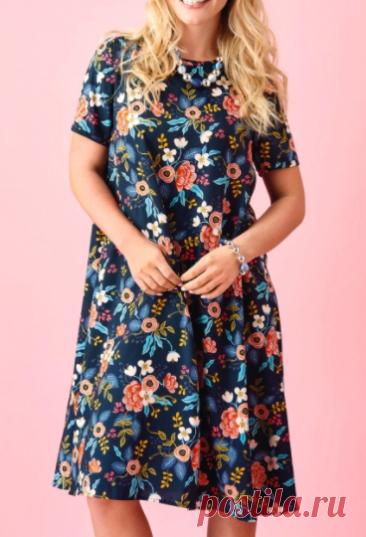 Выкройка женского платья размеры 8-20 UK