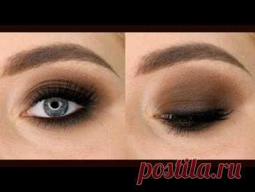 Коричневый смоки айс ( Brown smokey eyes) дымчатый макияж