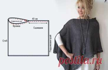 Выкройки накидок (подборка) Модная одежда и дизайн интерьера своими руками