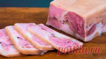 Мясная закуска ЗА КОПЕЙКИ на Праздничный Стол. ГОТОВИТСЯ БЫСТРО и ЛЕГКО!!! Готовлю сальтисон из свиной рульки. Быстро и без заморочек. Не нужно возиться с сырым мясом. Без усилий и хлопот. Получается очень вкусно. Мясо на праздничны...