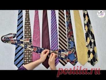 [DIY] 낡은 넥타이의 대 변신!! 3가지 작품으로 만나보세요!! - YouTube