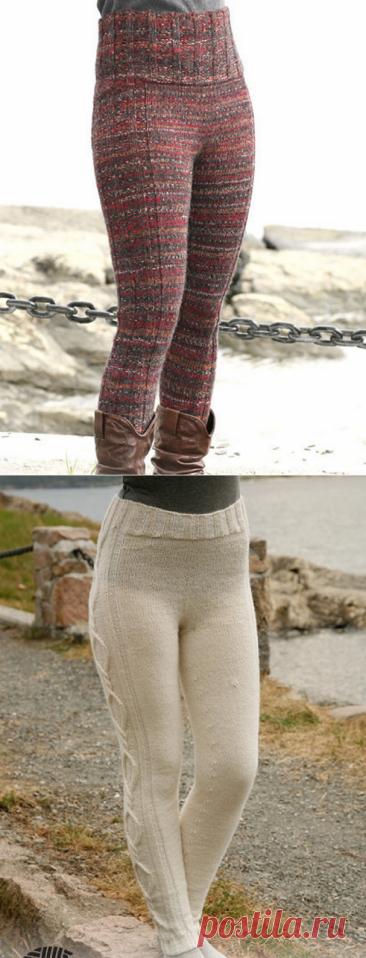 Вяжем тёплые штанишки